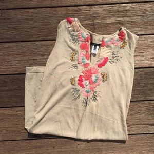 Nanette Lepore Embroidered Beaded Dress Small